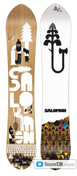 Snowboard Salomon Sick Stick 2008 2009 Snowboard And Ski Catalog Snowdb Com