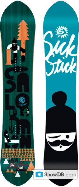 Snowboard Salomon Sick Stick 2010 2011 Snowboard And Ski Catalog Snowdb Com